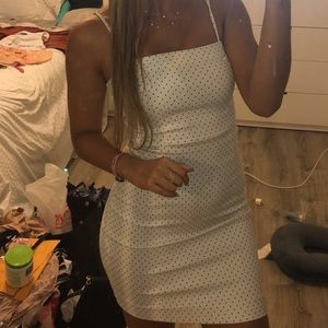 Forever 21 white body con dress